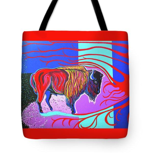 Flaming Heart Buffalo Tote Bag