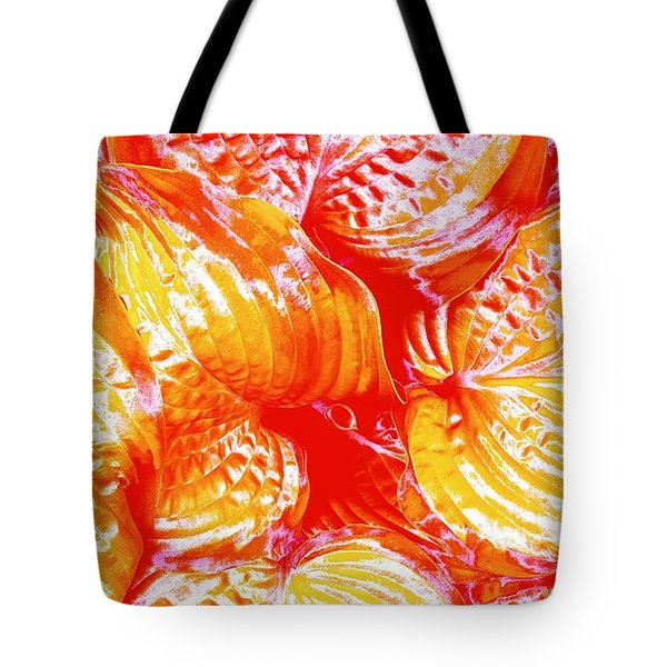 Flaming Hosta Tote Bag