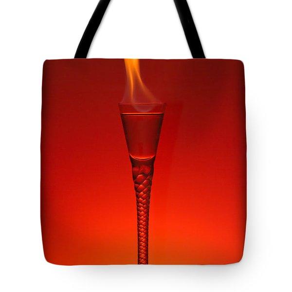 Flaming Hot Tote Bag by Gert Lavsen