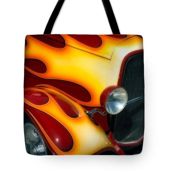 Flaming Hot Rod Tote Bag
