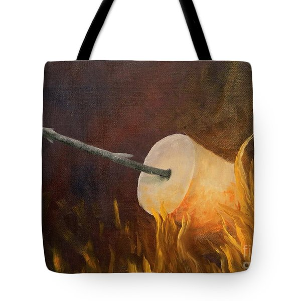 Flaming Tote Bag by Joi Electa