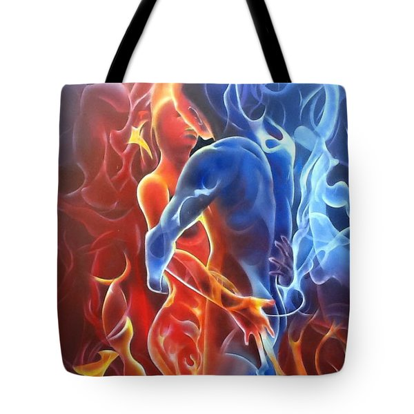 Flaming Lovers Tote Bag