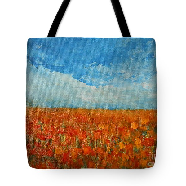 Flaming Orange Tote Bag