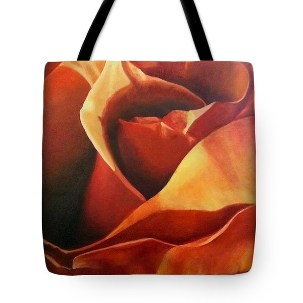 Flaming Rose Tote Bag