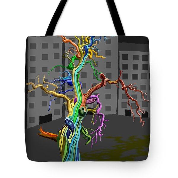 Flaming Tree Tote Bag