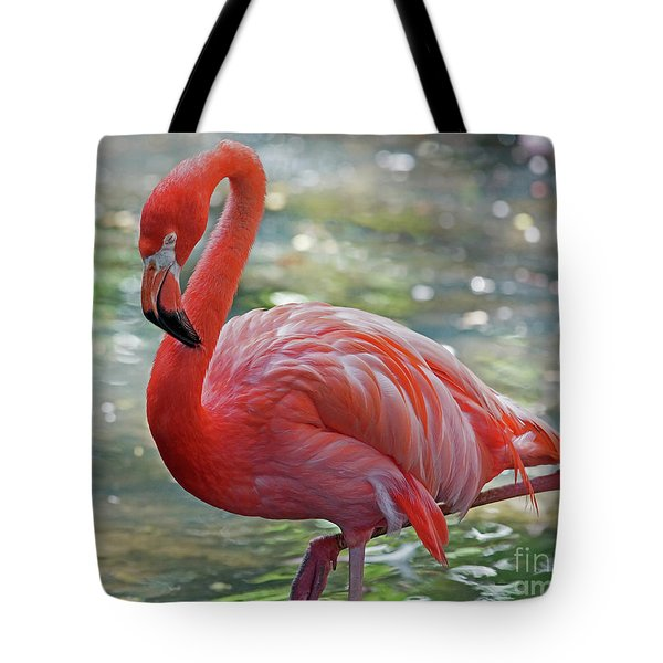 Flamingo 2  Tote Bag by Larry Nieland