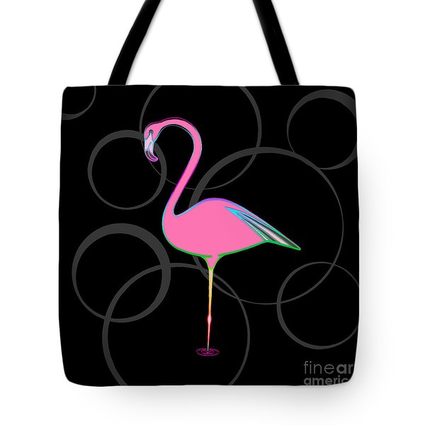 Flamingo Bubbles No 1 Tote Bag