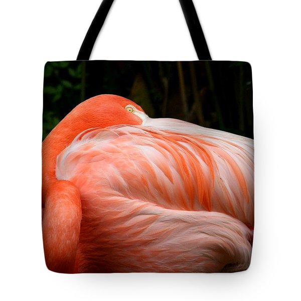 Flaming O Tote Bag by Cathy Harper