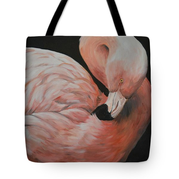 Flamingo Tote Bag by Charlotte Yealey