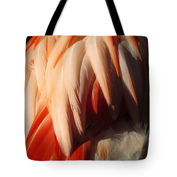 Tote Bag featuring the digital art Flamingo Feathers by Kathleen Illes
