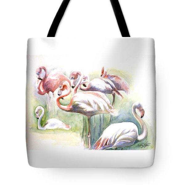 Flamingo Fiesta Tote Bag