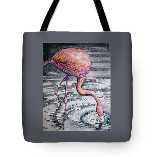 Flamingo Fishing  II Tote Bag