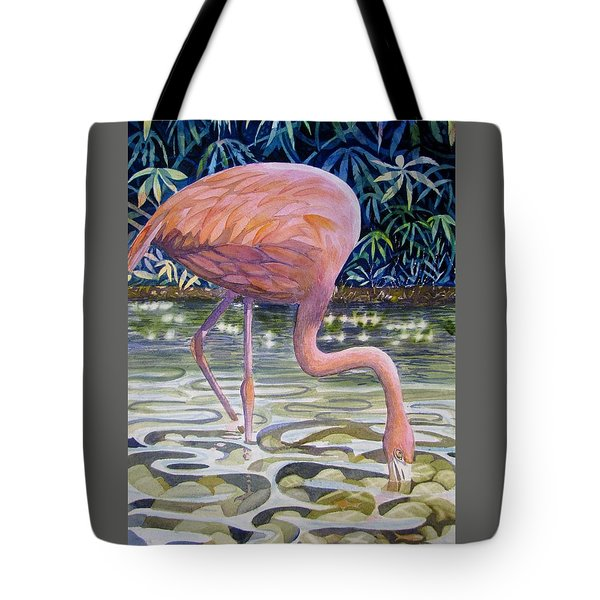 Flamingo Fishing Tote Bag by Martha Ayotte