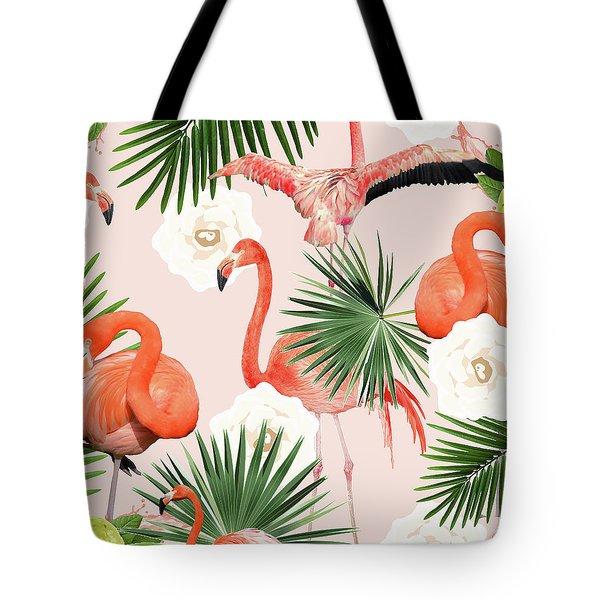Flamingo Guava Tote Bag