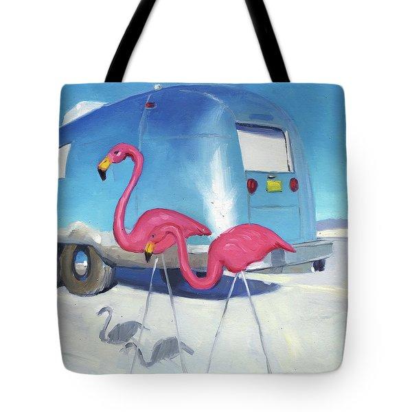 Flamingo Migration Tote Bag