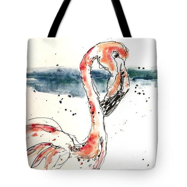 Flamingo Pool Tote Bag