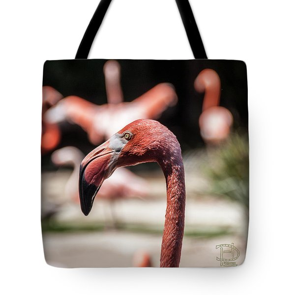 Flamingo Portrait Tote Bag by Daniel Hebard