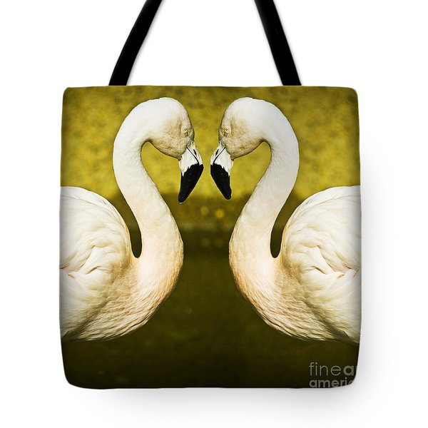 Flamingo Reflection Tote Bag