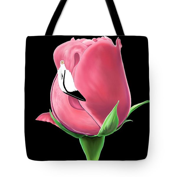 Flamingo Rose Tote Bag