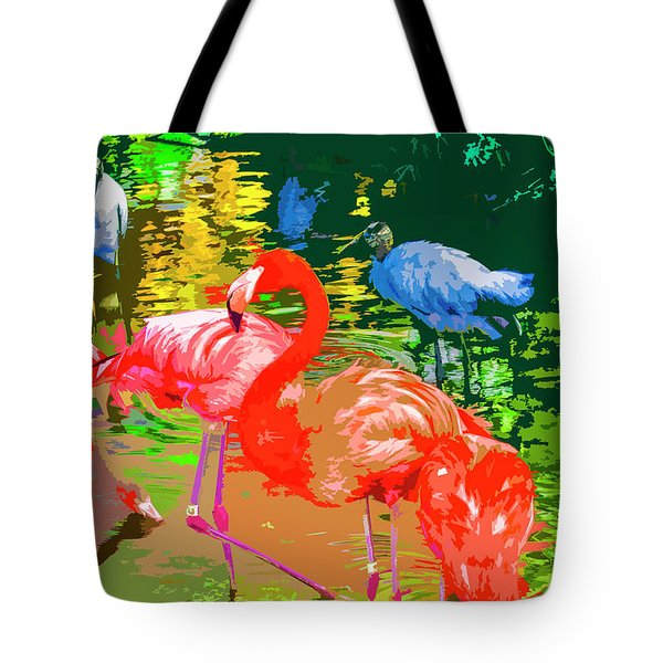 Flamingo Time Tote Bag