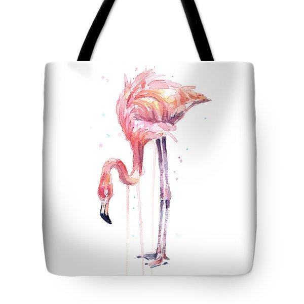 Flamingo Watercolor - Facing Left Tote Bag