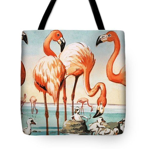 Flamingoes Tote Bag by English School