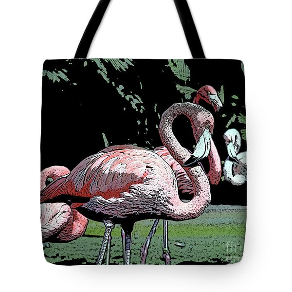 Tote Bag featuring the photograph Flamingos I by Jim and Emily Bush