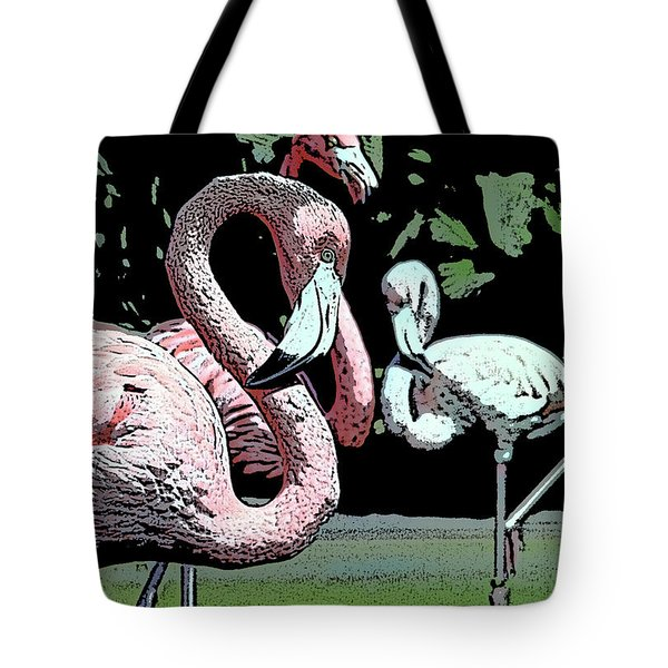 Tote Bag featuring the photograph Flamingos II by Jim and Emily Bush