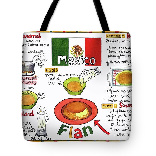 Tote Bag featuring the painting Flan by Diane Fujimoto