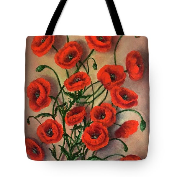 Flander's Poppies Tote Bag