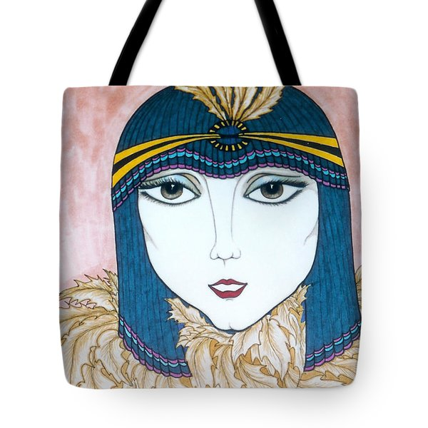 Flapper Girl 2 Tote Bag by Rae Chichilnitsky