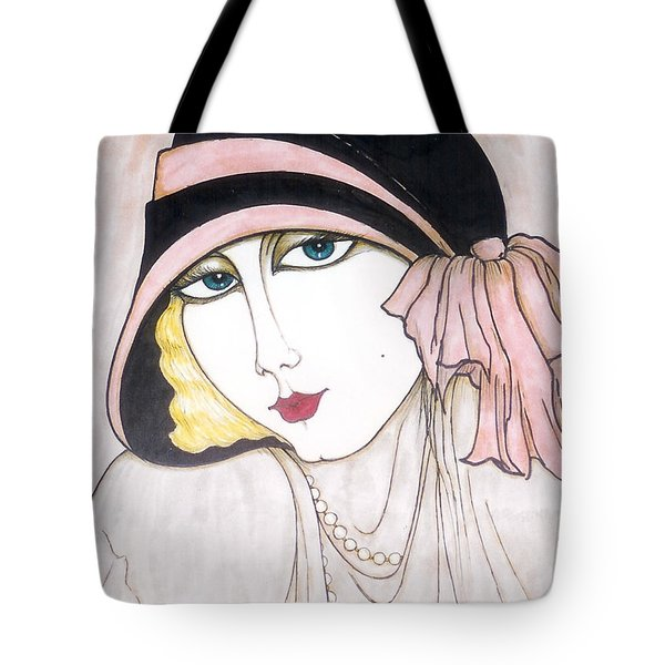 Flapper Girl 3 Tote Bag by Rae Chichilnitsky