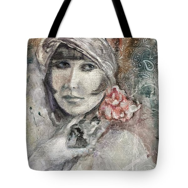 Flapper With Peony Tote Bag