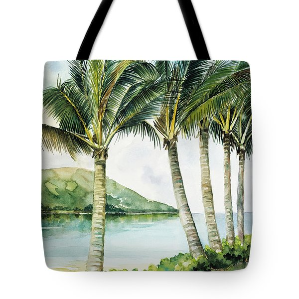 Flapping Palm Trees Tote Bag by Han Choi - Printscapes