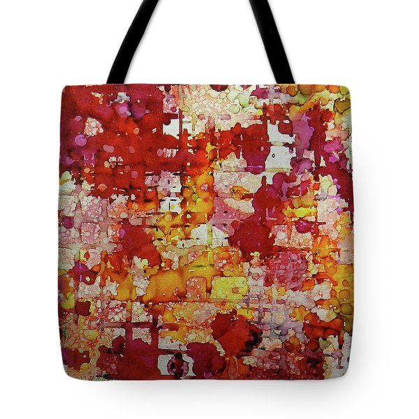 Tote Bag featuring the painting Flare Up Ink #8 by Sarajane Helm