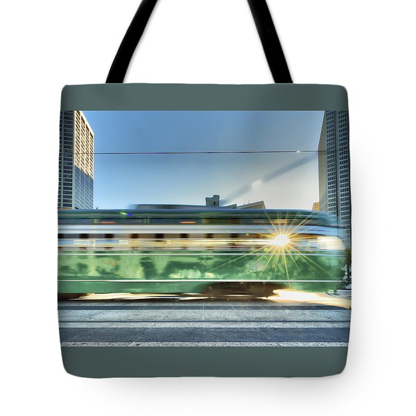 Tote Bag featuring the photograph Flash Muni by Steve Siri