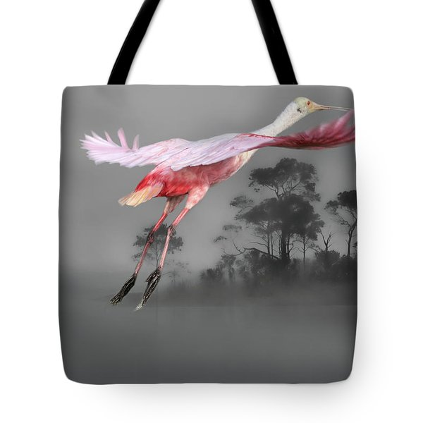Flash Of Pink Tote Bag