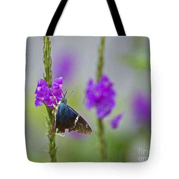 Flasher On Weed... Tote Bag by Nina Stavlund