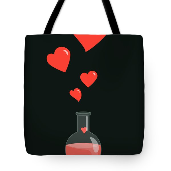 Flask Of Hearts Tote Bag
