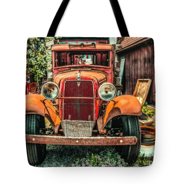 Tote Bag featuring the photograph Flat Bed Ford by Nick Zelinsky