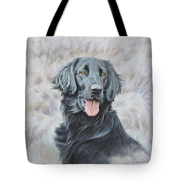 Flat Coated Retriever Portrait Tote Bag