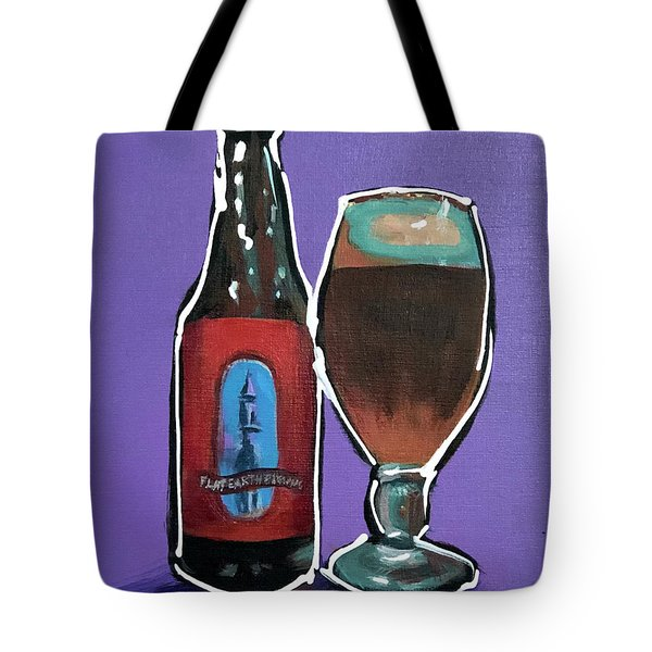 Flat Earth Tote Bag