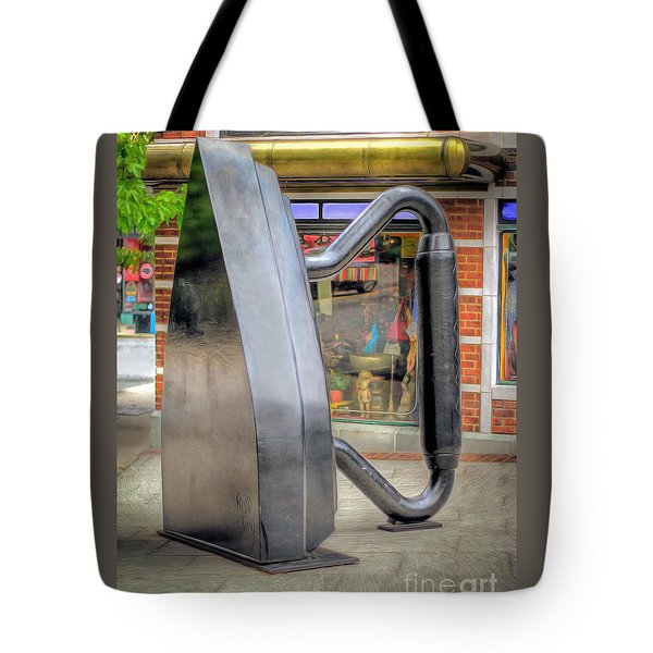 Flat Iron Sculpture Tote Bag by Marion Johnson