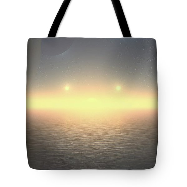 Tote Bag featuring the digital art Flat Lights by Robert Thalmeier