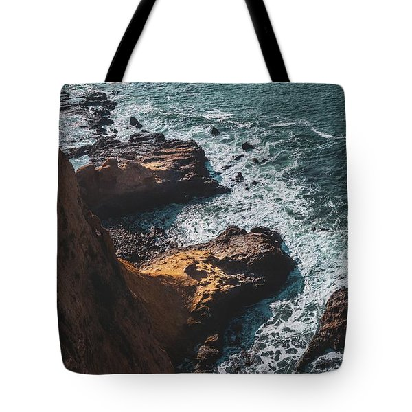 Tote Bag featuring the photograph Flat Rock Point by Andy Konieczny