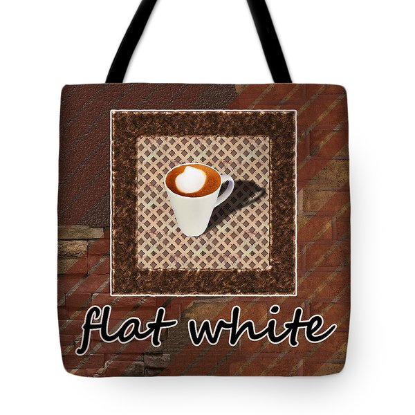 Tote Bag featuring the photograph Flat White - Coffee Art by Anastasiya Malakhova
