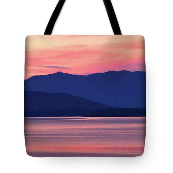 Flathead Lake At Sunrise Tote Bag