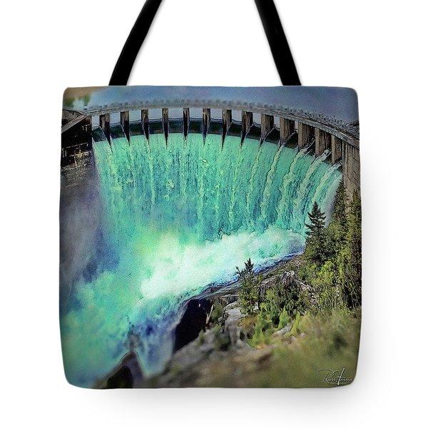 Flathead Lake Kerr Dam Tote Bag
