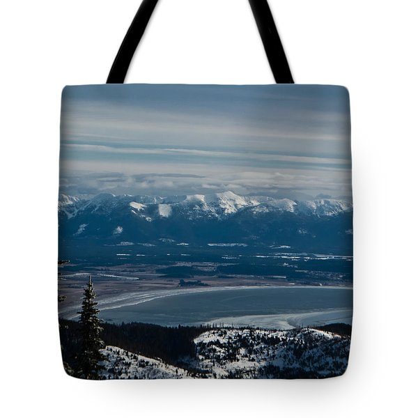 Flathead Valley In The Winter Tote Bag