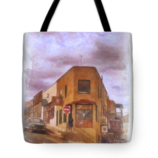 Flatiron Building Of Jerome Arizona Tote Bag
